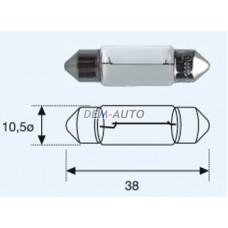 Sv8 { sv8.5 (10 x 37mm) 24v-5w} (10 ) blick Лампа упаковка (10 шт)